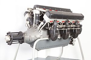 W18 engine - Isotta Fraschini Asso 750, liquid-cooled aircraft engine.