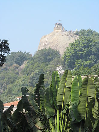 Gulangyu - Mount Lit-kong-giam (日光岩 Sunlight Rock) is the highest place on Gulangyu