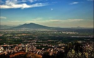 Maddaloni - Maddaloni in the foreground, Mount Vesuvius and  Capri in the background.
