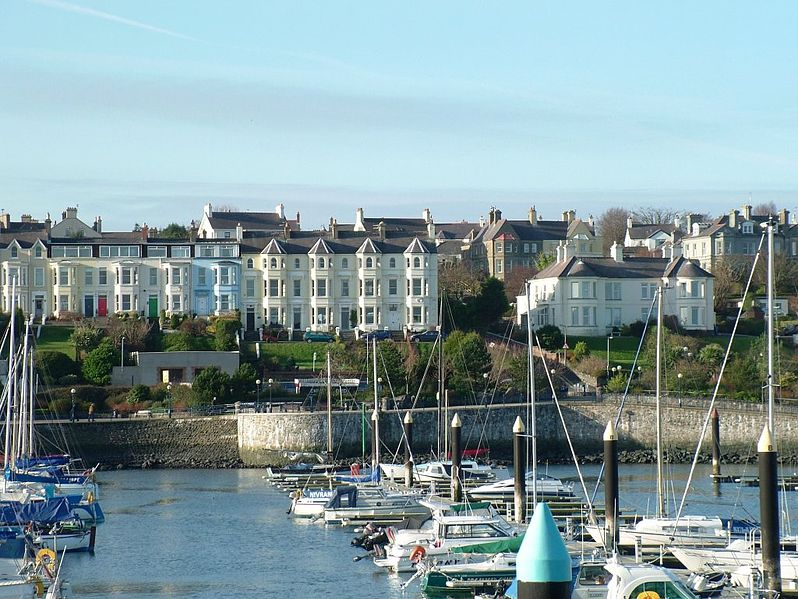 Photo of houses overlooking Bangor Marina.