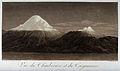 Mounts Chimborazo and Carguairazo, snowcapped. Coloured aqua Wellcome V0025206.jpg