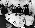 Mourners gather around two coffins holding Triangle fire victims. (5279079085).jpg