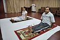 Mrs Manekar and Anil Shrikrishna Manekar - Visramasana - International Day of Yoga Celebration - NCSM - Kolkata 2015-06-21 7333.JPG
