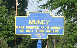 Official logo of Muncy, Pennsylvania