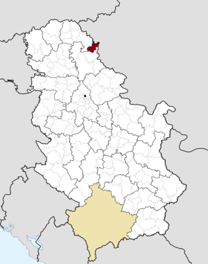 Nova Crnja - Image: Municipalities of Serbia Nova Crnja