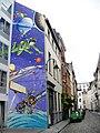 Mur BD Yoko Tsuno, Roger Leloup, Brussels.jpg