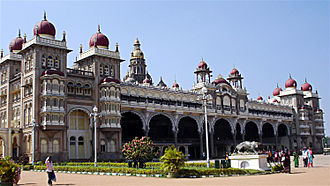 Palace - Ambavilas Palace, famous as Mysore Palace, the official residence of Maharajas of Mysore since 1400