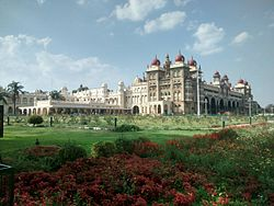 Mysore Palace south gate view.jpg