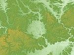 Nördlinger Ries Relief Map, SRTM-1.jpg