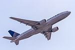 N225UA United Airlines Boeing 777-222(ER) departing via Rwy 25C to Chicago (KORD) @ Frankfurt (EDDF) - 08.04.2015 (17097374666).jpg