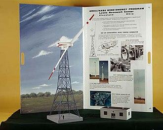 Wind power in Ohio - Image: NASA MOD 0 model 1975 00594L