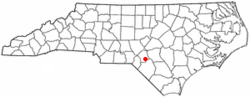 Location of Dundarrach, North Carolina