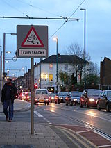 Tram tracks can be hazardous to cyclists