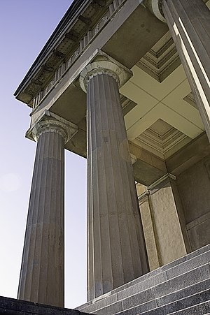 Fluting (architecture) - Vertical fluting on Doric order columns