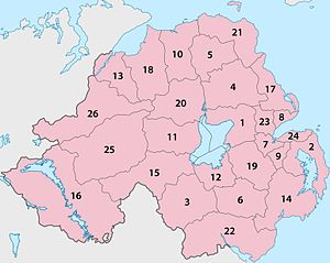 Reform of local government in Northern Ireland - The 26 old districts
