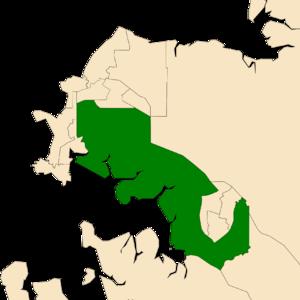 Electoral division of Spillett - Location of Spillett in the Darwin/Palmerston area