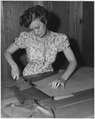 NYA-Minnesota-young woman learning to sew - NARA - 195302.tif