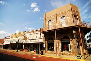 Part of historic downtown Nacogdoches, Texas