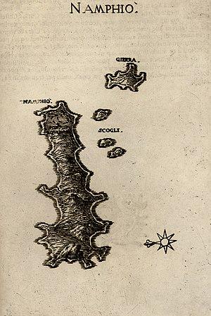 Anafi - Anafi (Namphio) by Marco Boschini, 1658