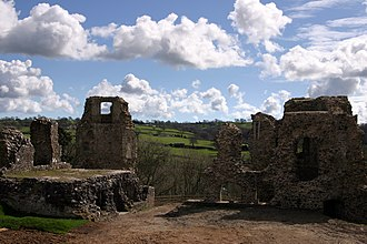 Narberth, Pembrokeshire - Narberth Castle ruins, 2005