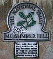 National Trust Plaque, Midsummer Hill - geograph.org.uk - 689706.jpg