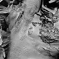 Nenana Glacier, ice field turning into valley glacier, August 27, 1964 (GLACIERS 5203).jpg