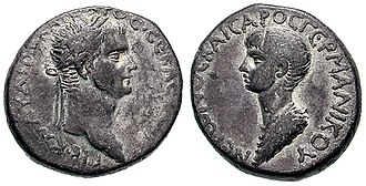Nero - Coin issued under Claudius celebrating young Nero as the future emperor, c. 50