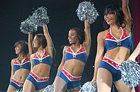 New Englands Patriots cheerleaders Briana Lee,...