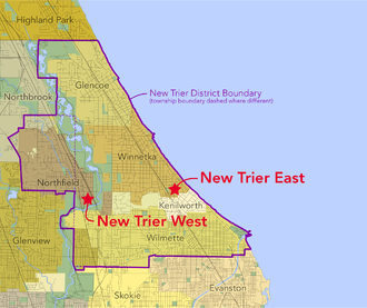 New Trier High School - New Trier district and locations