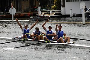 Newcastle University Boat Club - Newcastle University Boat Club winning the Prince Albert Challenge Cup at Henley Royal Regatta in 2008.