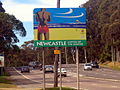 Newcastle welcome Adamstown City Rd at Brunker.jpg
