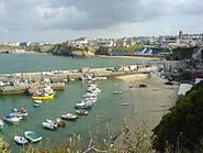 Newquay harbour town