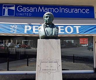 Nicolas Isouard - Nicolò Isouard bust in Mosta