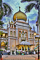 Nighfall at Sultan Mosque at Kampong Glam, Singapore (8124991632).jpg
