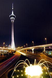 澳門旅遊塔夜景