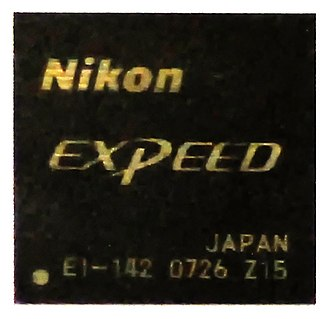 Image processor - Nikon EXPEED, a system on a chip including an image processor, video processor, digital signal processor (DSP) and a 32-bit microcontroller controlling the chip