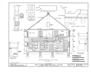 Nine Partners Meetinghouse, State Route 82 Vicinity, Millbrook, Dutchess County, NY HABS NY,14-MILB,1- (sheet 7 of 8).png