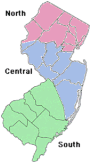 Central Jersey - Regions of NJDOT