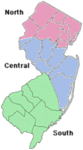 New Jersey Department of Transportation - Regions of NJDOT