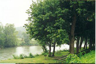 Nolichucky River - The Nolichucky at Davy Crockett Birthplace State Park