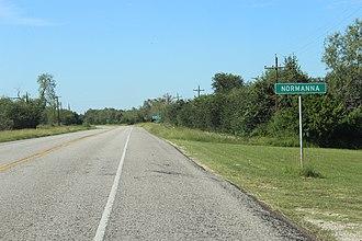 Normanna, Texas - Image: Normanna tx 2015 2