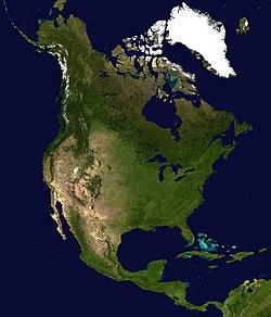 תמונת לווין של אמריקה הצפונית
