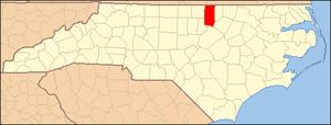 Locator Map of Granville County, North Carolin...