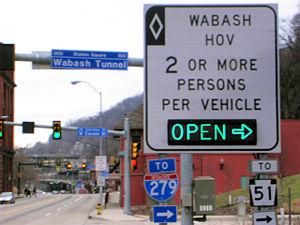 Wabash Tunnel - Carson Street ramp
