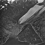 Northeastern Glacier, terminus of valley glacier with the sides turning into rock glacier, September 4, 1977 (GLACIERS 6679).jpg