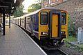 Northern Rail Class 150, 150214, Wigan Wallgate railway station (geograph 4531870).jpg