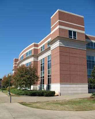 James E. Walker Library - The library seen from the northwest corner