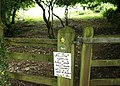 Notice by the Erme-Plym Trail - geograph.org.uk - 1411306.jpg