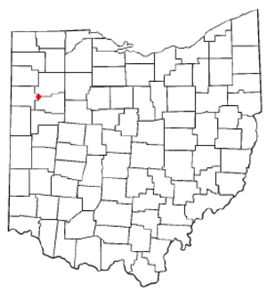 Delphos, Ohio - Image: OH Map doton Delphos