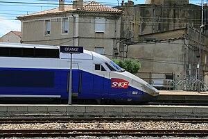 SNCF TGV Duplex - Réseau-Duplex in Gare d'Orange station.